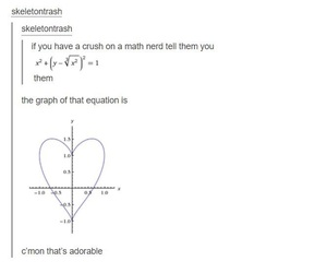love, math, and tumblr image