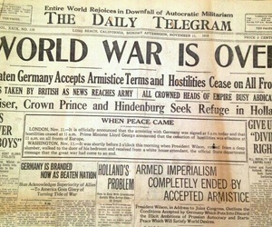 newspaper, war, and peace image