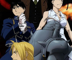 roy mustang, anime, and edward elric image