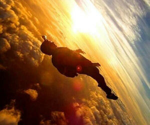 skydiving and sky image