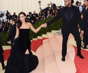 bella hadid, the weeknd, and met gala image