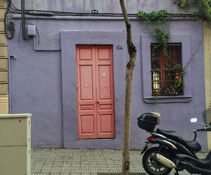 architecture, pink, and street image