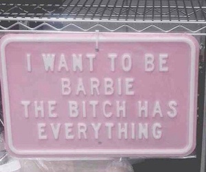 barbie, pink, and bitch image