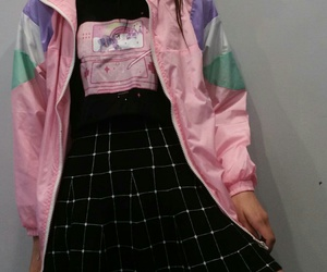 grunge, outfit, and pink image