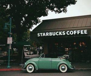 starbucks, coffee, and car image