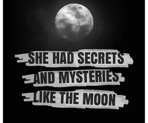 moon, mystery, and quote image