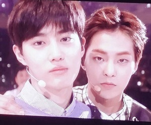 exo, junmyeon, and xiumin image