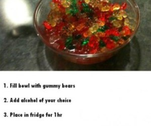 alcohol, gummy bears, and drunk image