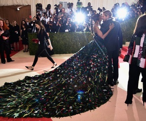 zoe saldana, met gala, and dress image