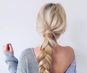 blonde, summer, and braid image