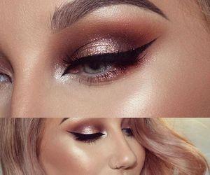makeup and rose gold image