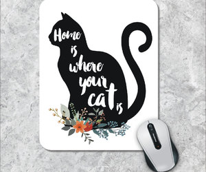 etsy, cat silhouette, and custom mousepad image