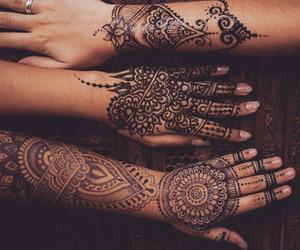 henna, beautiful, and beauty image