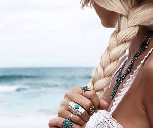 hair, summer, and rings image