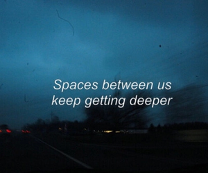 space, quotes, and sad image