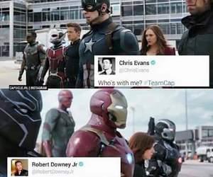 civil war, iron man, and captain america image