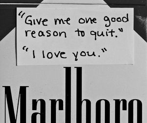 love, cigarette, and marlboro image