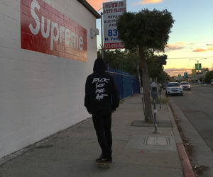 supreme, skate, and boy image