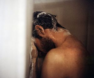 man, shower, and photography image