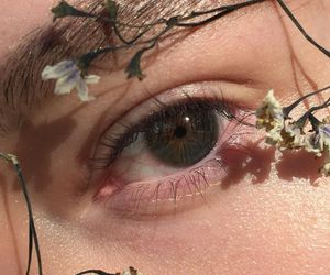 flowers, eye, and eyes image