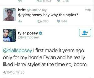 twitter, Harry Styles, and tyler posey image