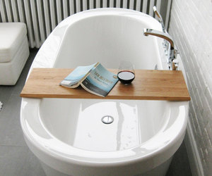bath, bathroom, and book image