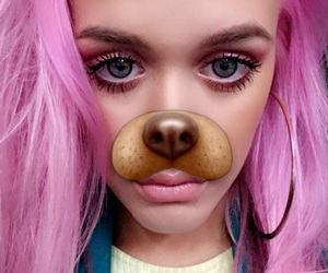 lottie tomlinson, pink, and hair image