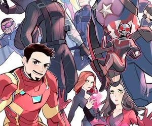 Marvel, Avengers, and civil war image