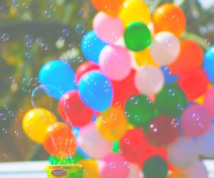 balloons, bubbles, and colors image