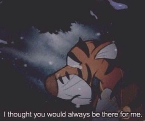 sad, quotes, and tiger image
