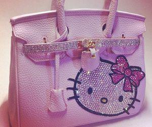 bag, hello kitty, and cool image