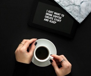 black, coffee, and relax image