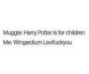 fuck off, hogwarts, and wizard image