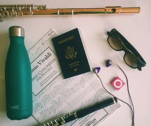 flute, music, and sunglasses image