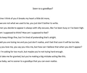 goodbye, poem, and sad image