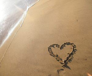 love, beach, and mar image