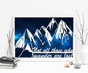 art wall, etsy, and inspirational quote image