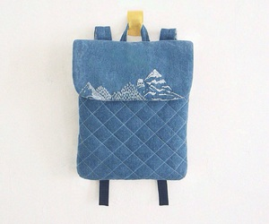 backpack, embroidery, and handmade image