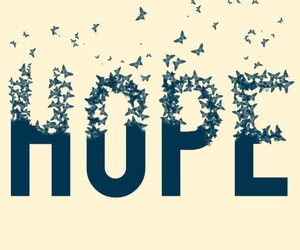 hope, butterfly, and bird image