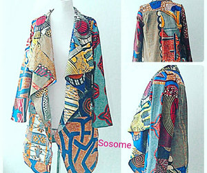 blue jacket, etsy, and african print image