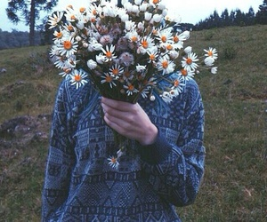 cool, flowers, and grunge image