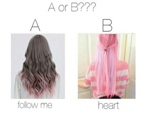 hair, pink, and follow image