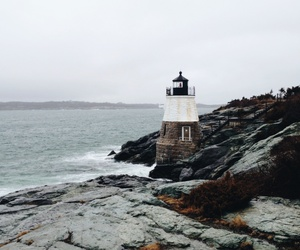 lighthouse, nature, and travel image
