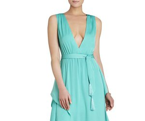 bcbg evening dress, bcbg red carpet dress, and 2016 sleeveless tie dress image