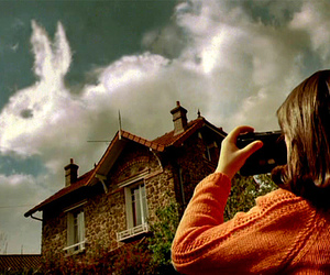 amelie, bunny, and clouds image