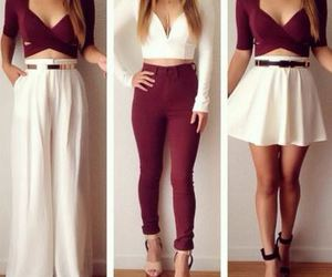 clothes, maroon, and pretty image