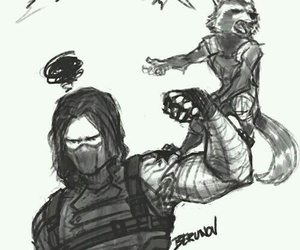 Marvel, bucky barnes, and guardians of the galaxy image