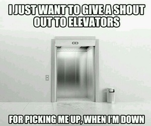 lol, elevator, and funny image