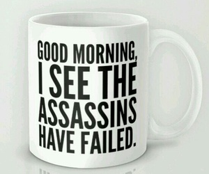 mug, assassins, and funny image