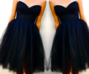tulle, wedding party dresses, and black graduation dresses image